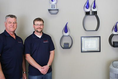 owners of tom's heating next to carrier awards