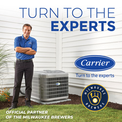 Carrier - Official Partner of the Milwaukee Brewers